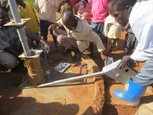 New parts being replaced - Namsohera borehole