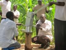 Kiganda B borehole being fixed
