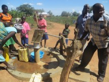Rehabilitated borehole in use