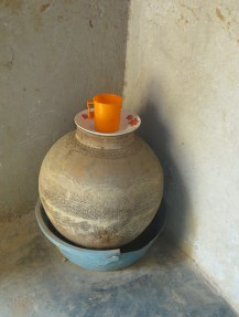 A typical drinking water storage pot