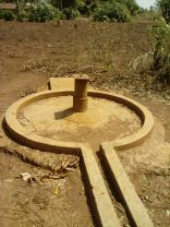 Broken down Corner Apii borehole before repair