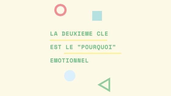 """LE CLÉ 2 EST LE """"POURQUOI"""" ÉMOTIONNEL"""