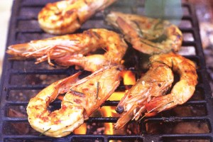prawns on barbie