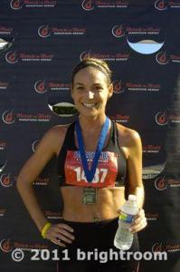 A post-race photo in 2011. Just ran a new Half Marathon PR. My lightest weight of my adult life - 119-122lbs.