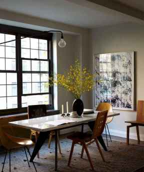 130 Small and Clean First Apartment Dining Room Ideas (102)