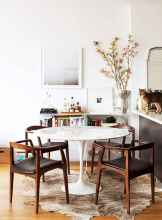 130 Small and Clean First Apartment Dining Room Ideas (52)