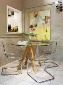 130 Small and Clean First Apartment Dining Room Ideas (57)