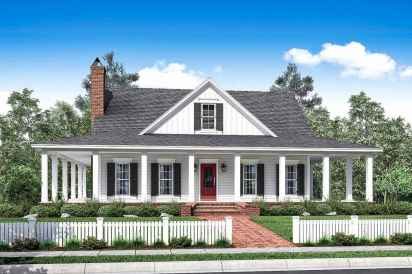 130 Stunning Farmhouse Exterior Design Ideas (103)