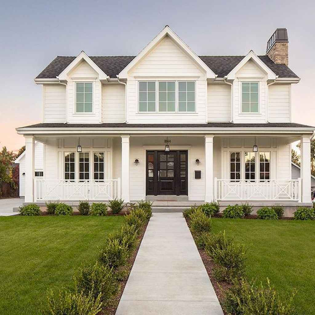 130 Stunning Farmhouse Exterior Design Ideas (108)