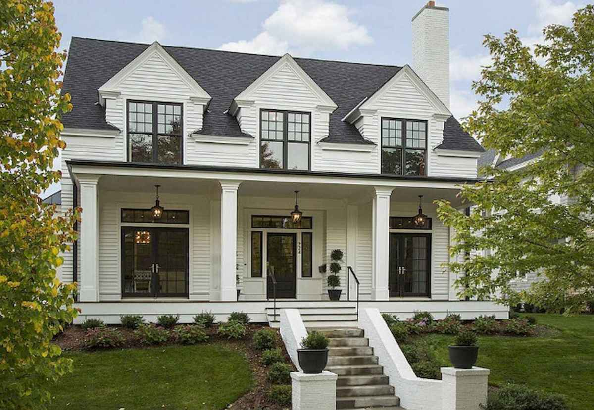 130 Stunning Farmhouse Exterior Design Ideas (36)