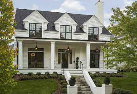 130 Stunning Farmhouse Exterior Design Ideas (36)