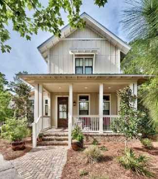 130 Stunning Farmhouse Exterior Design Ideas (46)