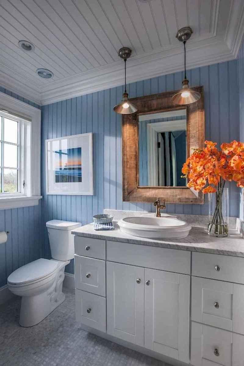 30 Amazing Coastal Nautical Bathroom Remodel Ideas (16)