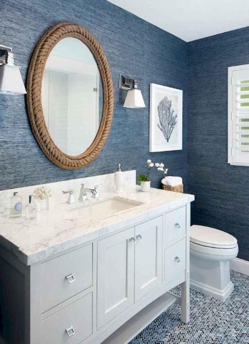 30 Amazing Coastal Nautical Bathroom Remodel Ideas (24)