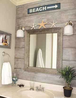 30 Amazing Coastal Nautical Bathroom Remodel Ideas (26)