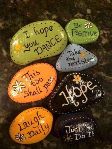 50 DIY Painted Rock Ideas for Your Home Decoration (12)