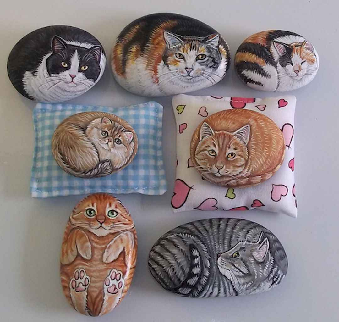 50 DIY Painted Rock Ideas for Your Home Decoration (19)