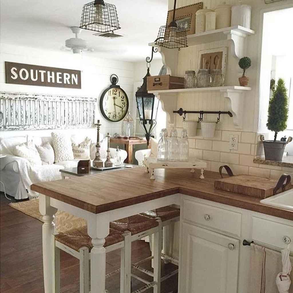 60 Inspiring Rustic Kitchen Decorating Ideas (41)