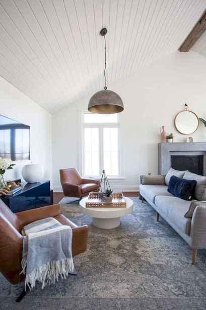60 Modern Farmhouse Living Room First Apartment Ideas (35)