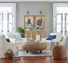 70 Cool and Clean Coastal Living Room Decorating Ideas (9)