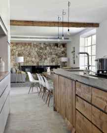 120 Modern Rustic Farmhouse Kitchen Decor Ideas (66)