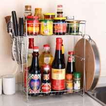 50 Smart Solution Standing Rack Kitchen Decor Ideas (27)