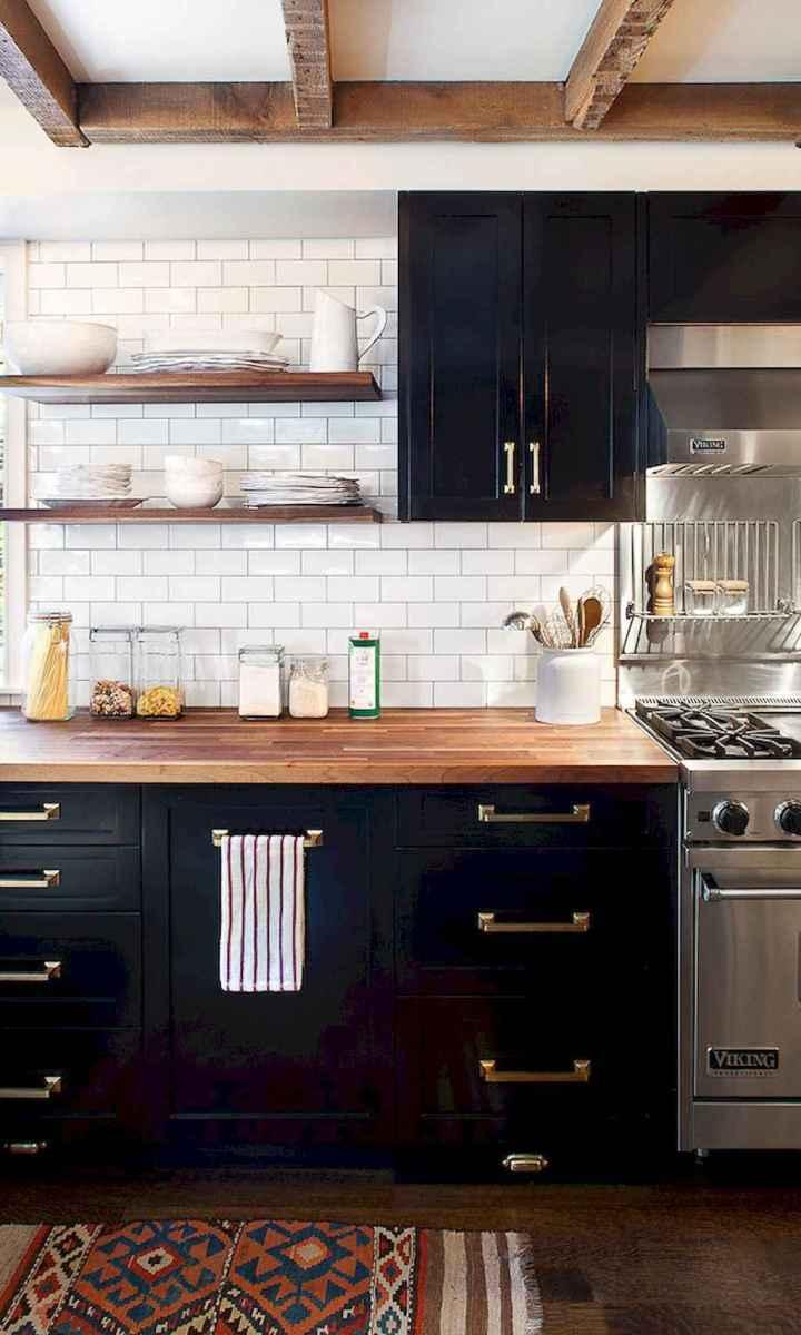 60 Black Kitchen Cabinets Design Ideas (12)