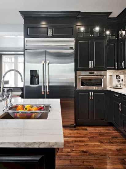 60 Black Kitchen Cabinets Design Ideas (36)