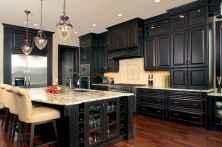 60 Black Kitchen Cabinets Design Ideas (37)