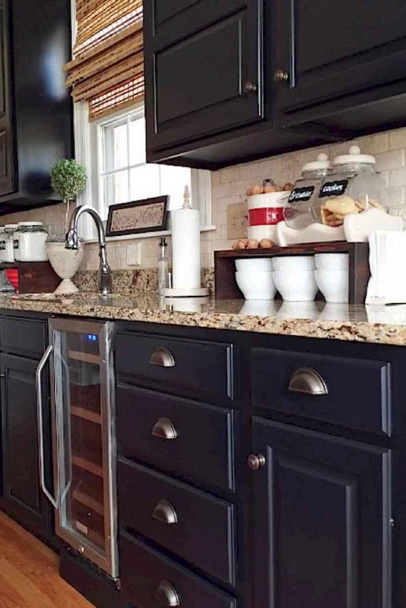 60 Black Kitchen Cabinets Design Ideas (46)