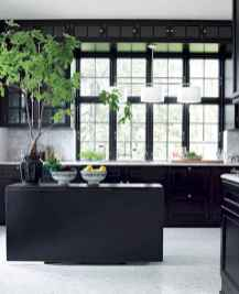 60 Black Kitchen Cabinets Design Ideas (51)