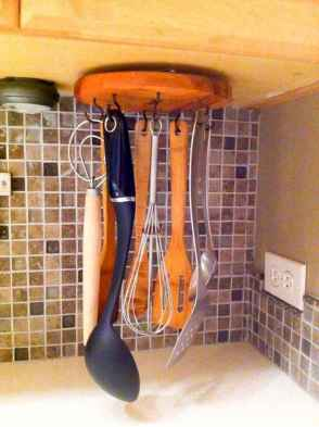80 Incredible Hanging Rack Kitchen Decor Ideas (21)