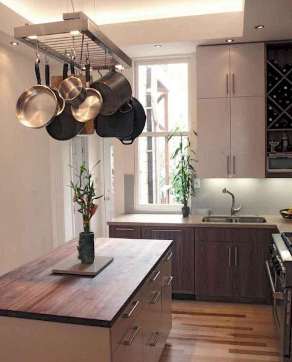 80 Incredible Hanging Rack Kitchen Decor Ideas (24)