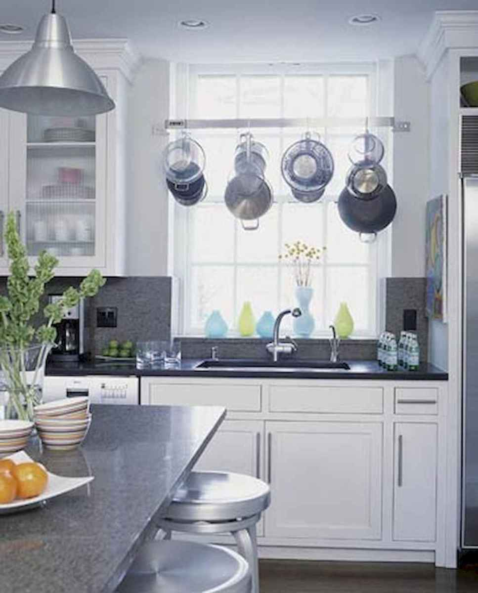 80 Incredible Hanging Rack Kitchen Decor Ideas (29)