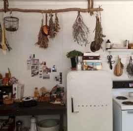 80 Incredible Hanging Rack Kitchen Decor Ideas (31)