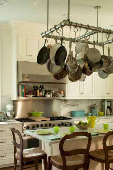 80 Incredible Hanging Rack Kitchen Decor Ideas (32)
