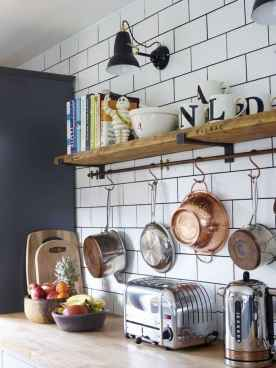 80 Incredible Hanging Rack Kitchen Decor Ideas (34)