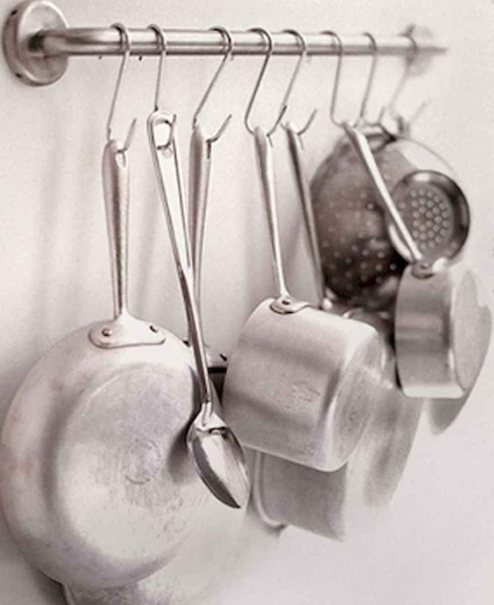 80 Incredible Hanging Rack Kitchen Decor Ideas (36)