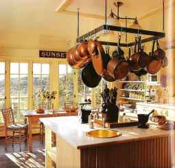 80 Incredible Hanging Rack Kitchen Decor Ideas (43)