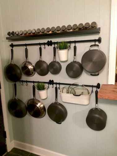 80 Incredible Hanging Rack Kitchen Decor Ideas (44)
