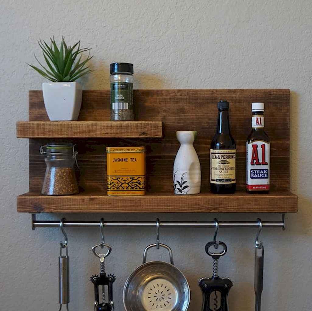 80 Incredible Hanging Rack Kitchen Decor Ideas (47)