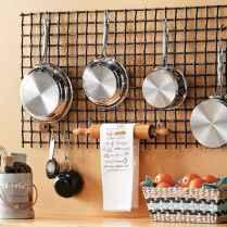 80 Incredible Hanging Rack Kitchen Decor Ideas (48)