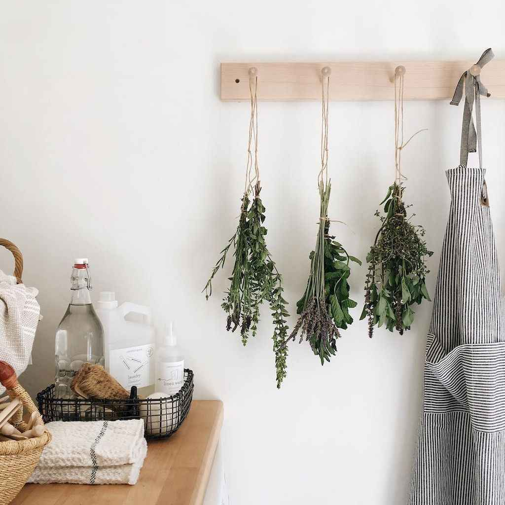 80 Incredible Hanging Rack Kitchen Decor Ideas (52)