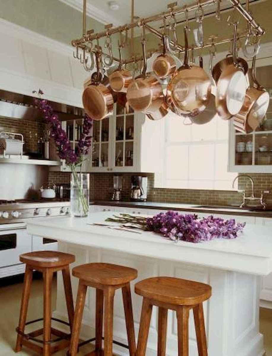 80 Incredible Hanging Rack Kitchen Decor Ideas (66)