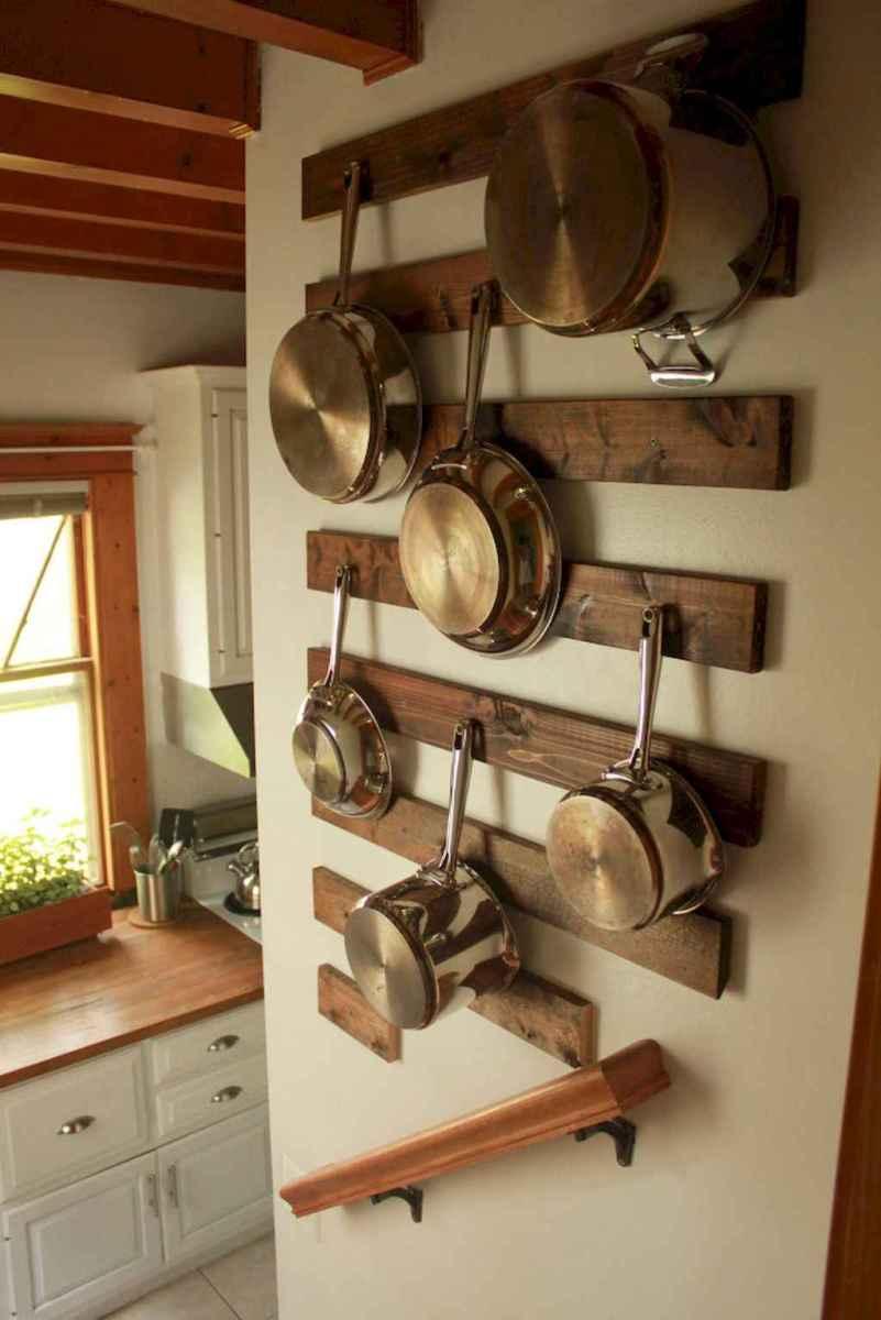 80 Incredible Hanging Rack Kitchen Decor Ideas (69)