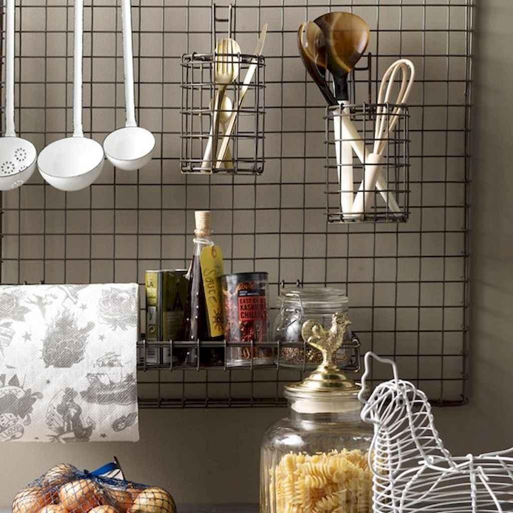 80 Incredible Hanging Rack Kitchen Decor Ideas (75)