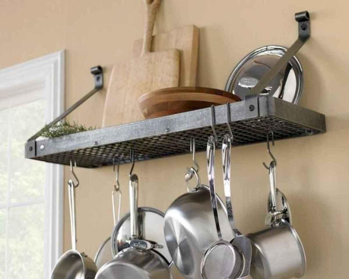 80 Incredible Hanging Rack Kitchen Decor Ideas (8)