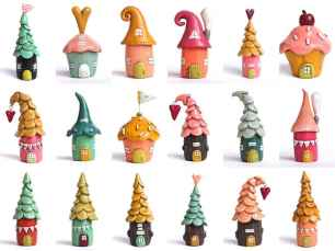 120 Easy And Simply To Try DIY Polymer Clay Fairy Garden Ideas (43)