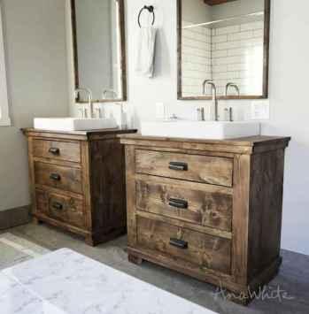 50 Stunning Farmhouse Bathroom Vanity Decor Ideas (103)