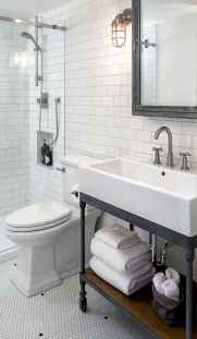 50 Stunning Farmhouse Bathroom Vanity Decor Ideas (110)